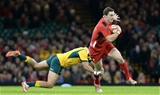 08.11.14 - Wales v Australia - Dove Men Series 2014 - George North of Wales is tackled by Christian Leali'ifano of Australia. © Huw Evans Picture Agency
