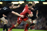 22.11.14 - Wales v New Zealand All Blacks - Dove Men Care - Rhys Webb of Wales runs in to score try. © Huw Evans Picture Agency