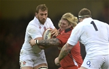 06.02.15 - Wales v England - RBS 6 Nations 2015 - Chris Robshaw of England is tackled by Richard Hibbard of Wales.