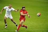 06.02.15 - Wales v England-  Leigh Halfpenny of Wales and Jonathan Joseph of England.