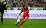 28.02.15 - France v Wales - RBS 6 Nations 2015 - Leigh Halfpenny of Wales kicks at goal.