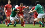 14.03.15 - Wales v Ireland - RBS 6 Nations 2015 - Rhys Webb of Wales takes on Rory Best and Mike Ross of Ireland.