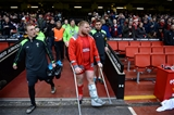14.03.15 - Wales v Ireland - RBS 6 Nations 2015 - Samson Lee of Wales on crutches during half time.