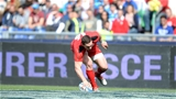 21.03.15 - Italy v Wales - RBS 6 Nations 2015 - George North of Wales scores try.
