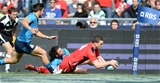 21.03.15 - Italy v Wales - RBS 6 Nations 2015 - George North of Wales scores his second try.
