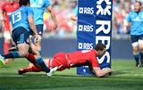 21.03.15 - Italy v Wales - RBS 6 Nations 2015 - George North of Wales scores his third try.