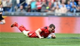 21.03.15 - Italy v Wales - RBS 6 Nations 2015 - Sam Warburton of Wales scores try.