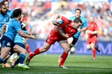 21.03.15 - Italy v Wales - RBS 6 Nations 2015 - George North of Wales runs in to score try.