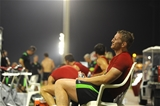 28.07.15 - Wales Rugby Camp in Qatar -Bradley Davies after training.