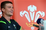 04.08.15 - Wales Rugby Team Announcement - Scott Williams talks to media after being named captain in the Wales team to play Ireland on Saturday.