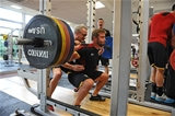 11.08.15 - Wales Rugby Training Session -Leigh Halfpenny with Paul (Bobby) Stridgeon and Mark Kilgallon during training.