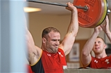 11.08.15 - Wales Rugby Training Session -Jamie Roberts during training.