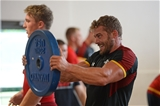 11.08.15 - Wales Rugby Training Session -Leigh Halfpenny during training.