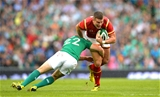 29.08.15 - Ireland v Wales - Guinness Summer Series -Scott Williams of Wales is tackled by Paddy Jackson of Ireland.