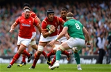 29.08.15 - Ireland v Wales - Guinness Summer Series -Luke Charteris of Wales takes on Jamie Heaslip of Ireland.