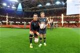 05.09.15 -  Wales v Italy - Dove Men Test 2015 -Sam Warburton of Wales and Mascot Saul Hurley.