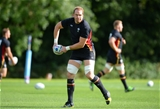 15.09.15 -  Wales Rugby World Cup Training -Alun Wyn Jones during training.