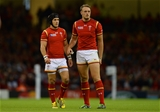 20.09.15 - Wales v Uruguay - Rugby World Cup 2015 -Matthew Morgan and Cory Allen of Wales.
