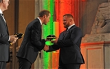 21.09.15 - Wales Rugby World Cup Welcome Ceremony -Samson Lee is presented his 2015 Rugby World Cup cap by HRH Duke of Cambridge.