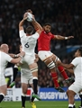 26.09.15 - England v Wales, Rugby World Cup 2015 - Tom Wood of England and Taulupe Faletau of Wales compete for the ball