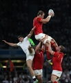 26.09.15 - England v Wales, Rugby World Cup 2015 - Alun Wyn Jones of Wales takes the high ball