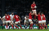 26.09.15 - England v Wales - Rugby World Cup - Bradley Davies of Wales wins the line out.