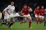 26.09.15 - England v Wales, Rugby World Cup 2015 - Scott Williams of Wales is tackled by Mike Brown of England