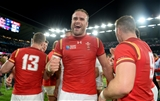 26.09.15 - England v Wales - Rugby World Cup 2015 -Jamie Roberts of Wales celebrates win.