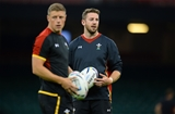30.09.15 - Wales Rugby Training -Alex Cuthbert during training.