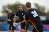 06.10.15 - Wales Rugby Training -Jamie Roberts during training.