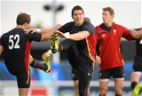 06.10.15 - Wales Rugby Training -James Hook during training.