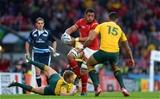 10.10.15 - Australia v Wales - Rugby World Cup 2015 -Taulupe Faletau of Wales takes on Israel Folau of Australia.