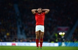 10.10.15 - Australia v Wales - Rugby World Cup 2015 -Jamie Roberts of Wales looks on.