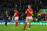 17.10.15 - South Africa v Wales - Rugby World Cup Quarter Final 2015 -Dan Lydiate and Alex Cuthbert (left) of Wales look dejected at the end of the game.