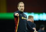 12.02.16 - Wales Rugby Training -Alun Wyn Jones during training.