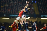 13.02.16 - Wales v Scotland - RBS 6 Nations 2016 -Richie Gray of Scotland beats Luke Charteris of Wales to line out ball.