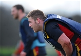 16.02.16 - Wales Rugby Training -Dan Lydiate during training.