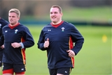 16.02.16 - Wales Rugby Training -Gethin Jenkins during training.