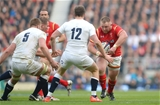 12.03.16 - England v Wales - RBS 6 Nations 2016 -Samson Lee of Wales takes on Owen Farrell of England.