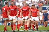29.05.16 - England v Wales - Old Mutual Wealth Cup -Josh Turnbull, James King and Lloyd Williams leave the field at the end of the game.