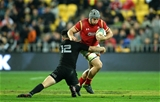 18.06.16 - New Zealand v Wales - Steinlager Series, Second Test -Jonathan Davies of Wales takes on Ryan Crotty of New Zealand.