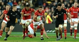 18.06.16 - New Zealand v Wales - Steinlager Series, Second Test -Rhys Webb of Wales gets into space.
