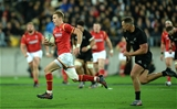 18.06.16 - New Zealand v Wales - Steinlager Series, Second Test -Liam Williams of Wales gets past Israel Dagg of New Zealand to score try.