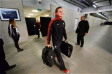 25.06.16 - New Zealand v Wales - Steinlager Series, Third Test -Hallam Amos of Wales arrive.