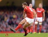 05.11.16 - Wales v Australia - Under Armour Series -Leigh Halfpenny of Wales kicks at goal.