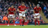 05.11.16 - Wales v Australia - Under Armour Series - Rhys Webb, Dan Biggar and Dan Lydiate of Wales.