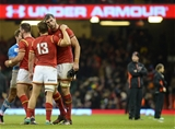 12.11.16 - Wales v Argentina - Under Armour Series - Jonathan Davies and Luke Charteris of Wales at the final whistle.