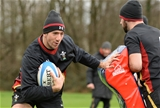 02.02.17 - Wales Rugby Training -Justin Tipuric during training.