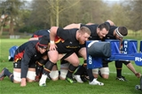 02.02.17 - Wales Rugby Training -Justin Tipuric, Samson Lee, Ken Owens and Nicky Smith during training.