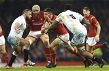 11.02.17 - Wales v England - RBS 6 Nations 2017 -Rhys Webb of Wales tries to get past Courtney Lawes of England.